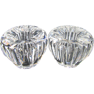 Waterford Crystal Carina Voltive Candle Holders Pair