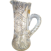 American Brilliant Period Cut Glass Champagne Pitcher