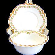 Haviland Limoges China Clover Leaf Pattern Ramekins and Saucers Set of Eleven