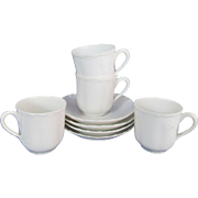 Haviland Ranson Demitasse Cups and Saucers Set of Four Schleiger 1
