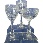 Hawkes Woodmere Cut Crystal Goblets on Stem 7227- 24 Pcs