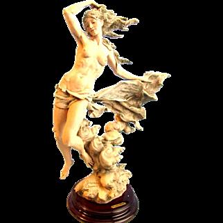 Giuseppe Armani Figurine LA BREZZA ZEPHYR Lim Ed #184/1500 Nymph Lady Goddess