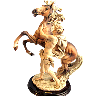 Giuseppe Armani FREEDOM-MAN & HORSE 906C Porcelain Figurine Limited Edition