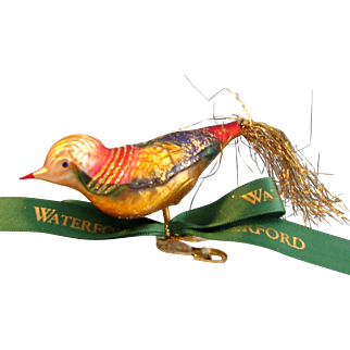 Waterford Holiday Bird Heirloom Nostalgia Collection Ornament With Box