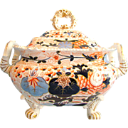 Grainger Lee and Co Worcester Pottery Blue Ball Japan English Imari Soup Tureen c1825