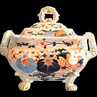 Grainger Lee and Co Worcester Pottery Blue Ball Japan English Imari Soup Tureen c1825