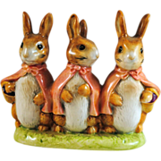 Beswick England Beatrix Potter Flopsy Mopsy and Cotton Tail Figurine Gold BP2a Mark