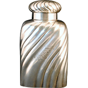 German 800 Coin Silver Twisted Form Tea Caddy by Ed Wollenweber