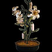 Italian Painted Metal Tole Flower Arrangement