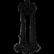 Vintage Cast Iron Gothic Bat Door Knocker