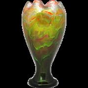 Loetz Titania Art Glass Vase 8.5 inches Tall
