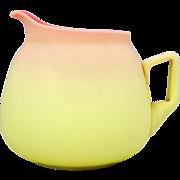 Pairpoint Mt. Washington Art Glass Satin Finish Burmese Lemonade Pitcher