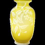Thomas Webb & Sons English Cameo Art Glass Vase