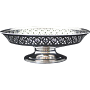 Tiffany & Co. Sterling Silver Reticulated Pierced Edge Compote or Tazza