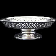 Tiffany & Co. Sterling Silver Reticulated Pierced Edge Compote or Tazza