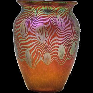Loetz Phaenomen Argus Pattern Art Glass Vase