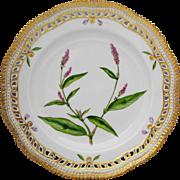 Royal Copenhagen Flora Danica Botanical 10 inch Pierced Edge Dinner Plate