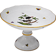 Herend Rothschild Bird Compote Centerpiece