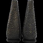 Pair of Italian Murano Art Glass Barovier & Toso BARBARICO Vases