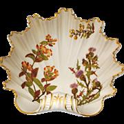 Royal Worcester Scalloped Leaf Shape Bowl