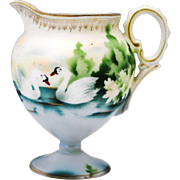 Red Mark RS Prussia Swan Decoration  Creamer