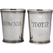 Pair of Lunt Sterling Silver Mint Julep Cups