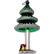 Vintage Italy Hand Blown Mercury Glass Christmas Tree Ornament
