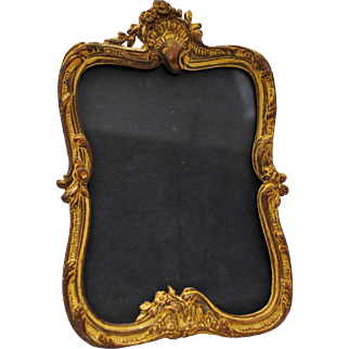 Antique French Style Gilt Gold Dore on Bronze Photo Easel Back Picture Frame