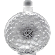 Lalique Dahlia Large 8 inch Perfume Bottle or Decanter