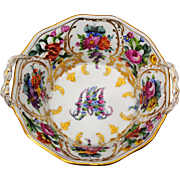 Carl Thieme Dresden Germany Marie Antoinette Basket Shape Bowl or Candy Dish