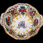 Carl Thieme Dresden Germany Marie Antoinette Basket Shape Bowl or Candy Dish