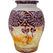 French Art Deco Cameo Glass Vase Le Verre Francais Schneider Charder