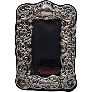 British Sterling Silver Easel Back Photo Picture Frame