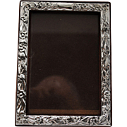 Sterling Silver Easel Back Photo Picture Frame