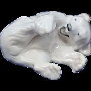 Royal Copenhagen Figurine Playful Polar Bear Cub