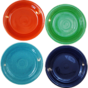 4 Vintage Fiesta Original Colors Salad Plates