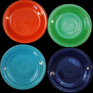 4 Vintage Fiesta Original Colors Salad Plates