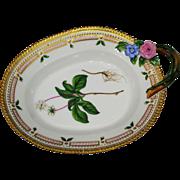 Royal Copenhagen Flora Danica Serving Dish with Twig Handle