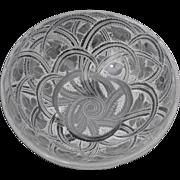 Lalique Pinsons Birds &  Fern 9.25 inch Diameter Bowl
