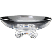 Steuben Crystal 8 inch Bowl with Scroll Feet