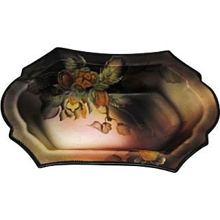 Hand Painted Nippon Bowl with Raised Nut Decoration
