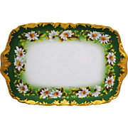 T & V Limoges France Hand Painted Daisy Chain Tray or Platter