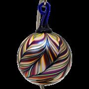 Daniel Lotton Art Glass Christmas Ornament 1989