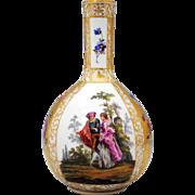 Dresden Porcelain Helena Wolfsohn Watteau Bottle Shape Vase AR Mark