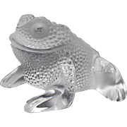 Lalique France Gregoire Toad Frog Art Glass Figurine or Sculpture