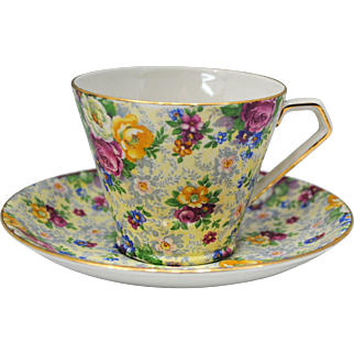 Lord Nelson Ware Rose Time Chintz Tea Cup and Saucer