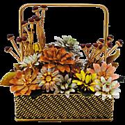 Gloria Vanderbilt Tole Metal Enamel Flower Arrangement  Jane Hutcheson Era