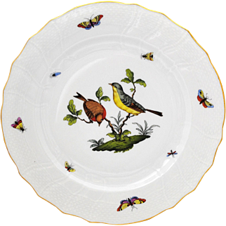Herend Rothschild Bird 10.25 inch Dinner Plate #3
