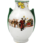 Royal Doulton Santa Clause Father Christmas Series Ware Miniature Vase