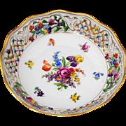 Schumann Dresden Bavaria Chateau Pierced Edge 9 inch  Bowl